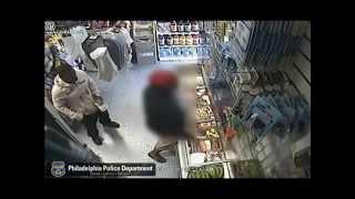 La policía difunde el video de un hombre que robó una tienda plátano en mano