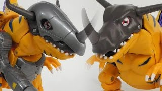 [Quick]MetalGreymon Dedigivolve into Greymon(メタルグレイモン退化グレイモン)Digimon Digivolving Figure Review