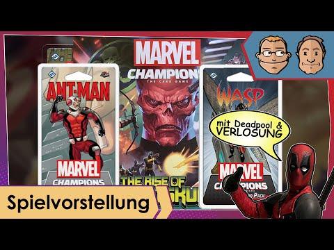Marvel Champions: – Ant-Man & Wasp Packs + Hawkeye und Spider-Woman Red Skull- Kampagnen-Erweiterung
