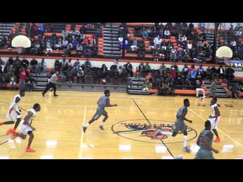 Tarrion Jordan #23  of Maplewood High School Alley-Oop Slam Dunk