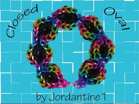 6 Six Pin Closed Oval Bracelet - Monster Tail or Rainbow Loom