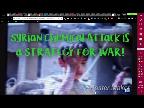 A WARNING was ISSUED 3 wks ago WARNING of a CHEMICAL ATTACK, AND the US is RESPONSIBLE!!