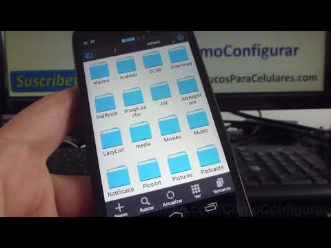 Como ver los archivos descargados carpetas en Android Motorola Moto G X T1032
