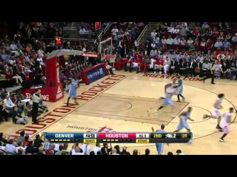 NBA Denver Nuggets Vs Houston Rockets Highlights Mar 2, 2012 Game Recap