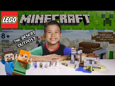 THE DESERT OUTPOST - LEGO MINECRAFT Set 21121 - Unboxing. Review. Time-Lapse Build