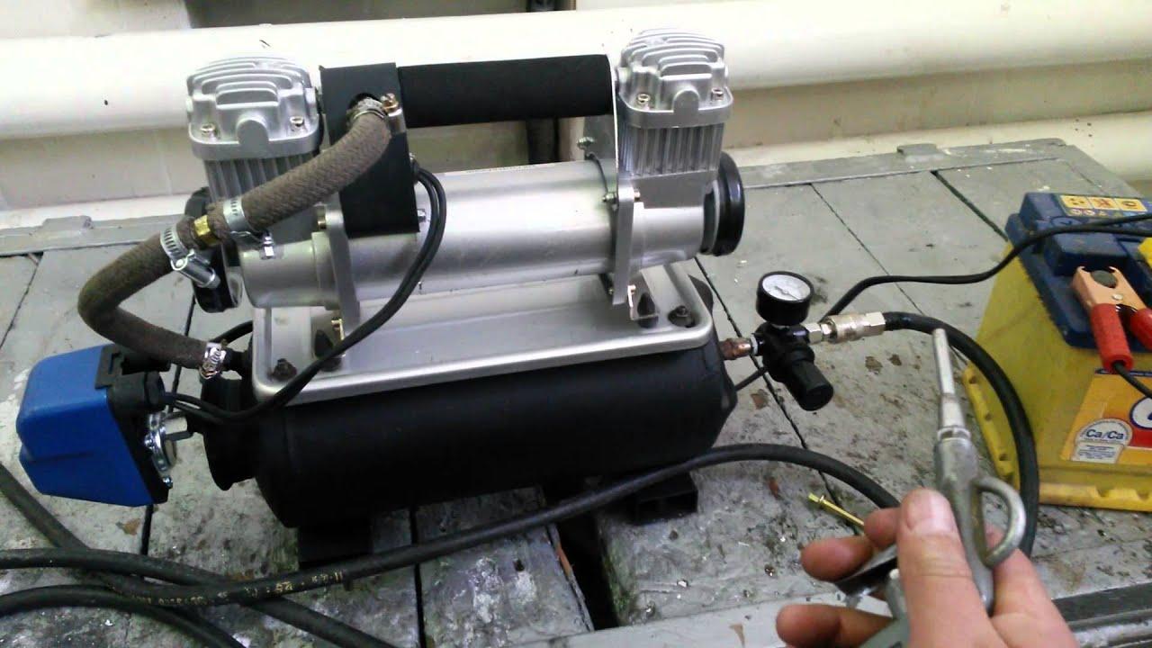 Воздушный компрессор из компрессора кондиционера автомобиля своими руками 96