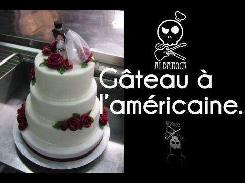 Gateau à laméricain - wedding cake - pâtisserie - dessert ...