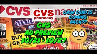 CVS AD PREVIEW 10/21 - 10/27   SAY WHAT....CASH CARD IS COMING SOON 😱😱