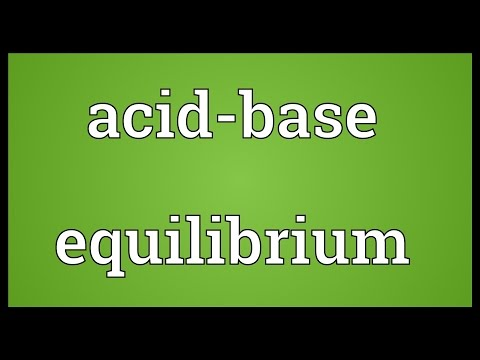 Header of Acid-Base Equilibrium