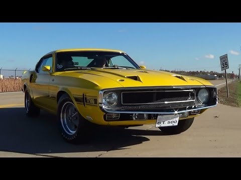 Test Driving 1969 Shelby GT500 428 Super Cobra Jet Drag Pack Mustang