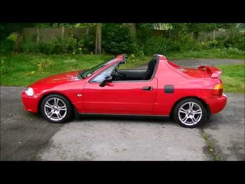Now Sold! Honda CRX V-Tec Del Sol, Electric Roof Operation Demo. by Lucy
