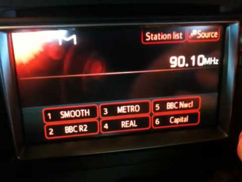 Touch Screen Car Radio in Toyota