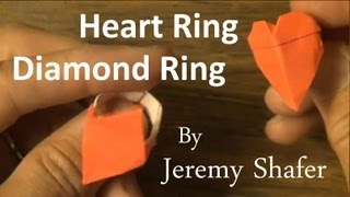 Origami Heart Ring / Diamond Ring