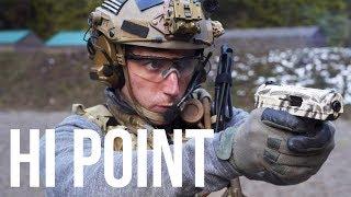 the cheapest handgun, the Hi Point