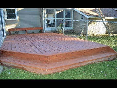 how to build wood deck on ground