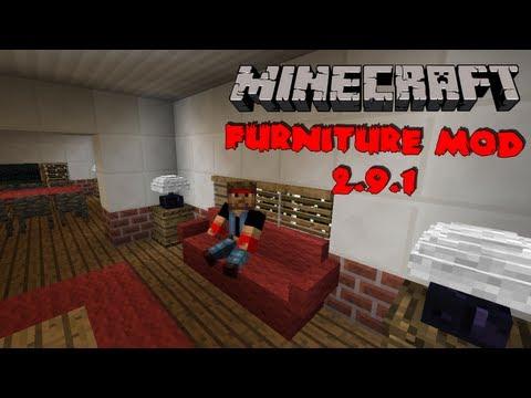 Minecraft Mods 1.6.2 - Furniture Mod 2.9.1 - Moveis para construções