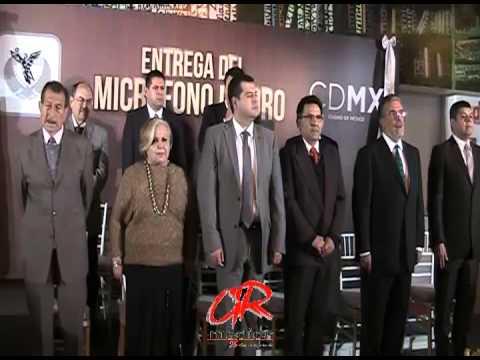 Recibió Micrófono de ORO José Ramón Amieva Gálvez