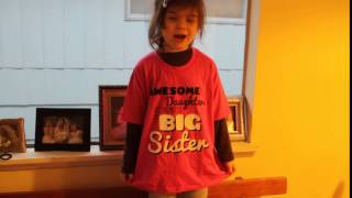 AWESOME DAUGHTERS get promoted to BIG SISTERS