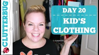 Day 20 - Kid's Clothing - 30 Day Decluttering Challenge