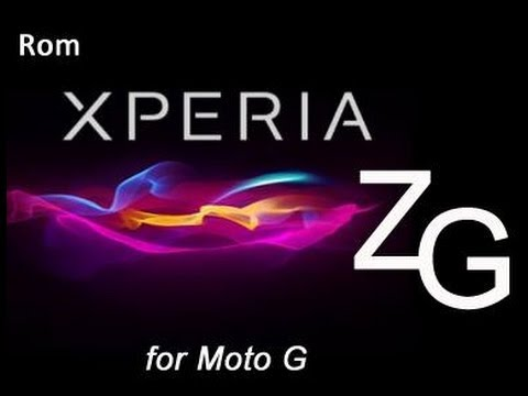 COMO INSTALAR LA ROM XPERIA ZG1 EN TU MOTO G