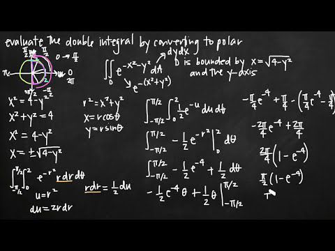 Converting double integrals to polar coordinates