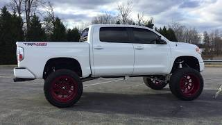 "2014 TOYOTA TUNDRA PLATINUM LIFTED 10"" BULLETPROOF KIT 24X14 FORCES 40"" TOYO'S FOR SALE"