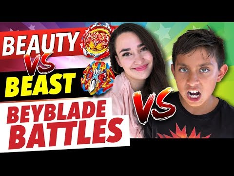 Beyblade Battle! Beauty vs Beast | Boy vs Girl Episode 4 - Toys