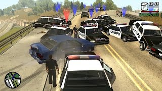 The Biggest Police Chase in GTA San Andreas History! (100 Cops VS 1 Car)