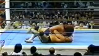 Rare Japanese Match Hulk Hogan vs Andre the Giant from Japan 1983
