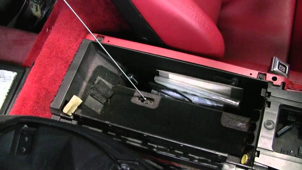 c4 corvette cutaway console remove