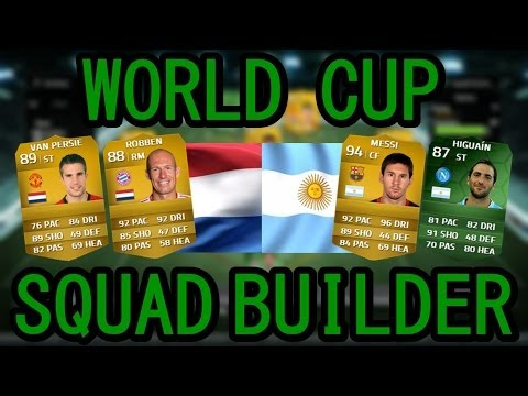 NETHERLANDS VS ARGENTINA WORLD CUP SQUAD BUILDER w/ MESSI, ROBBEN & RVP | FIFA 14 ULTIMATE TEAM |