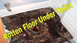 Toilet flange replacement cast iron and floor replacement 4k