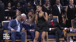 "Download Lagu WATCH: Ariana Grande performs ""A Natural Woman"" at Aretha Franklin's 'Celebration of Life' ceremony Gratis STAFABAND"