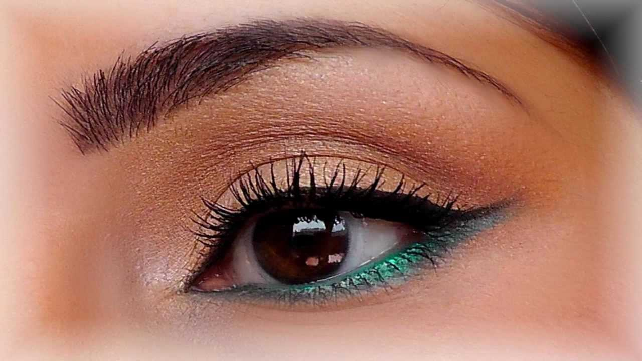 Tutoriel maquillage or turquoise mac youtube - Maquillage yeux marrons tuto ...