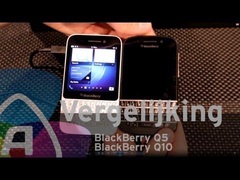 BlackBerry Q5 vs BlackBerry Q10 review (Dutch)