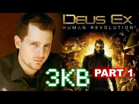 Adam Jensen Playing Deus Ex Human Revolution Part 1 of 3