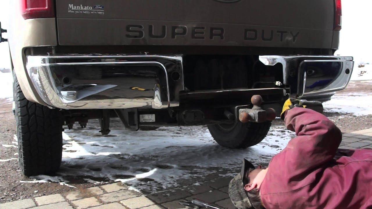 How To Fix F250 Super Duty Rear Bumper Youtube
