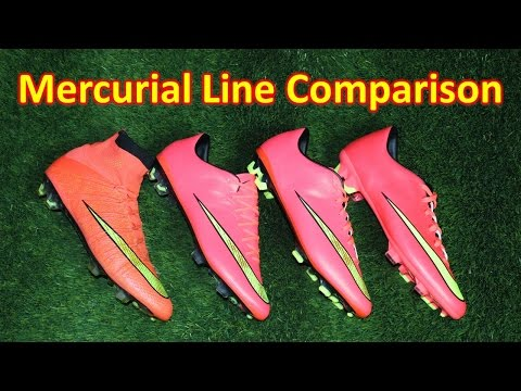 Superfly 4 vs Vapor 10 vs Veloce 2 vs Victory 5 - Nike Mercurial Line Comparison + Review