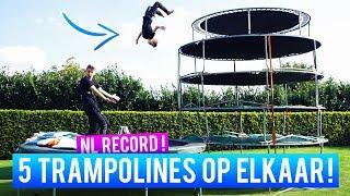 5 TRAMPOLINES OP ELKAAR - HOOGSTE VAN NEDERLAND