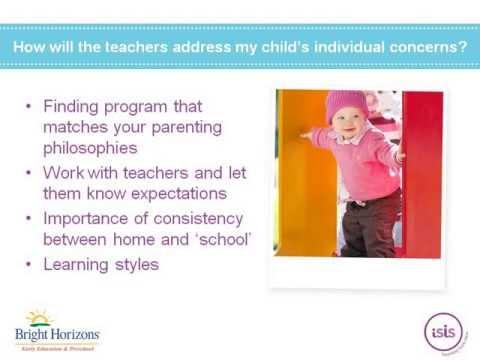 Toddler Transitions: Beginning Preschool or Childcare