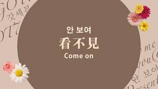 Han 中字 Eng Got7 看不見 안 보여 Come On Present You Me Edition