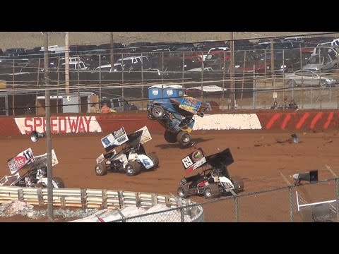 Lincoln Speedway 410 Sprint Car Highlights 3-15-15