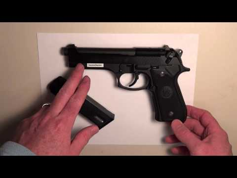 Beretta 92FS 9mm Pistol - Overview. FieldStrip. and Re-Assembly (HD)