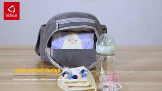 Bebamour Baby Carrier Hip Seat 6 in 1 Classical Desgined Baby Carrier Backpack 0-36months