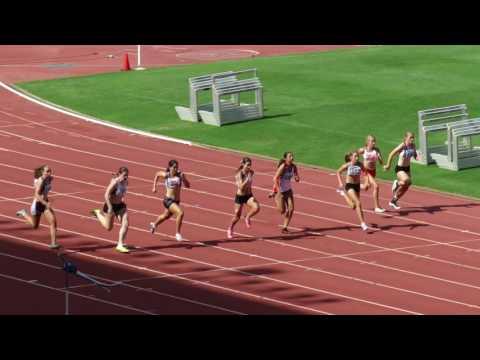 100m U16G Final Mya Thomas 1301 -12 Queensland Athletics Championships