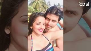 Monalisa Hot Bikini Moments During Honeymoon With Husband Vikrant Singh