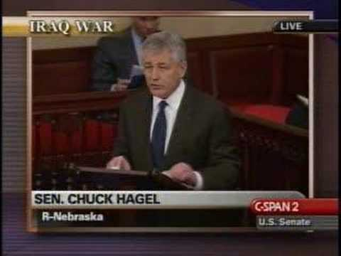 "Chuck Hagel on ""What the Senate is about..."""