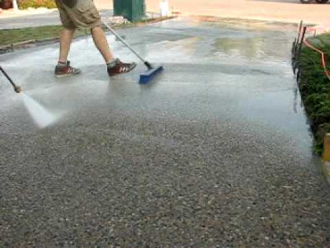 Power Washing For An Exposed Finish Youtube
