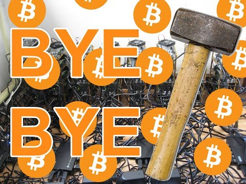 Destroying my Bitcoin mining rig