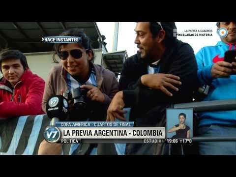 Visión 7 - La previa Argentina - Colombia